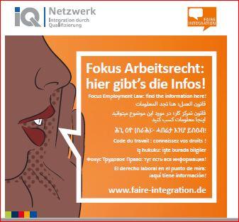 Faire Integration informiert – Fokus Arbeitsrecht: Hier gibt´s die Infos über Rechte und Pflichten im Arbeitsverhältnis!