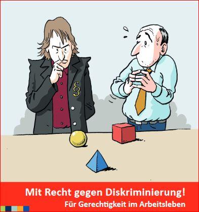 """Neuer Flyer erschienen: """"Mit Recht gegen Diskriminierung! Für Gerechtigkeit im Arbeitsleben."""" Workshops. Seminare. Organisationsberatung."""